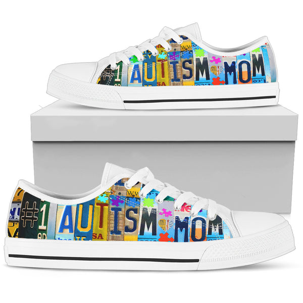 #1 Autism Mom Low Top Shoes - Monarch Graphics & Design