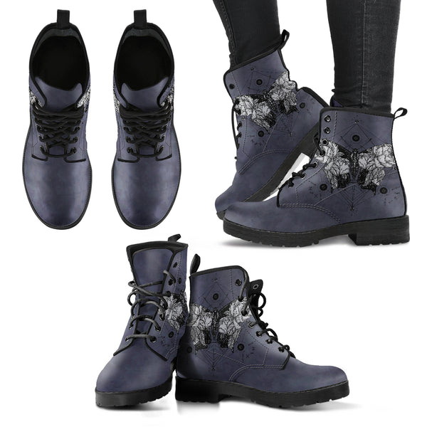 Dark Butterfly Women's Vegan Leather Boots - Monarch Graphics & Design