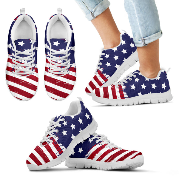 USA Flag Kid's Sneakers - Monarch Graphics & Design