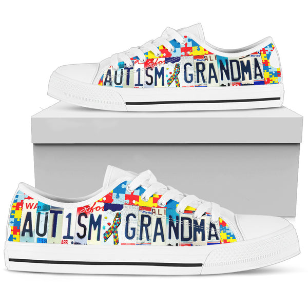 Autism Grandma | Low Top Women's Shoes - Monarch Graphics & Design