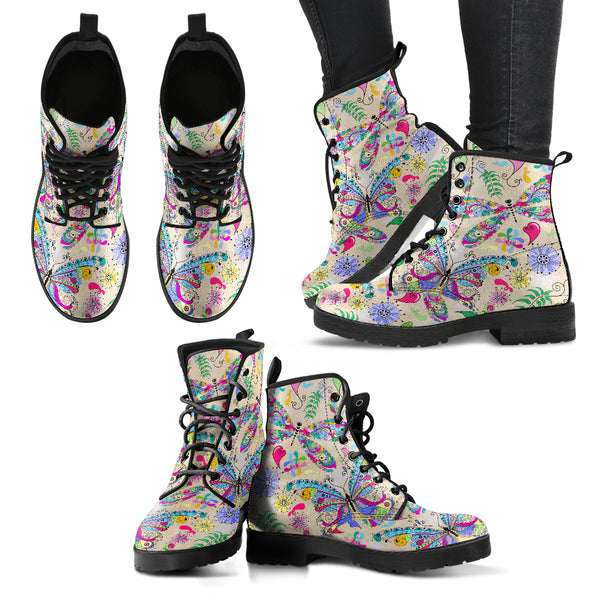 Butterfly and Dragonfly Handcrafted Boots - Monarch Graphics & Design