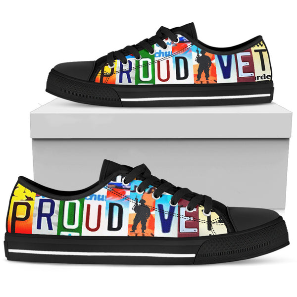 Proud Vet Black Low Top Shoes - Monarch Graphics & Design