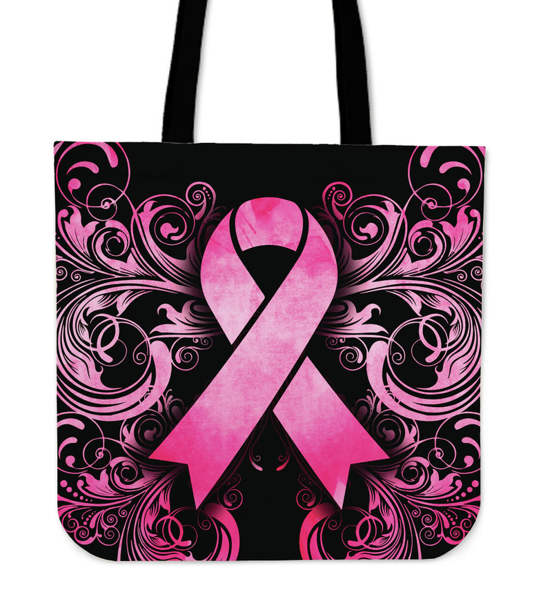 Breast Cancer Awareness Cloth Tote - Monarch Graphics & Design