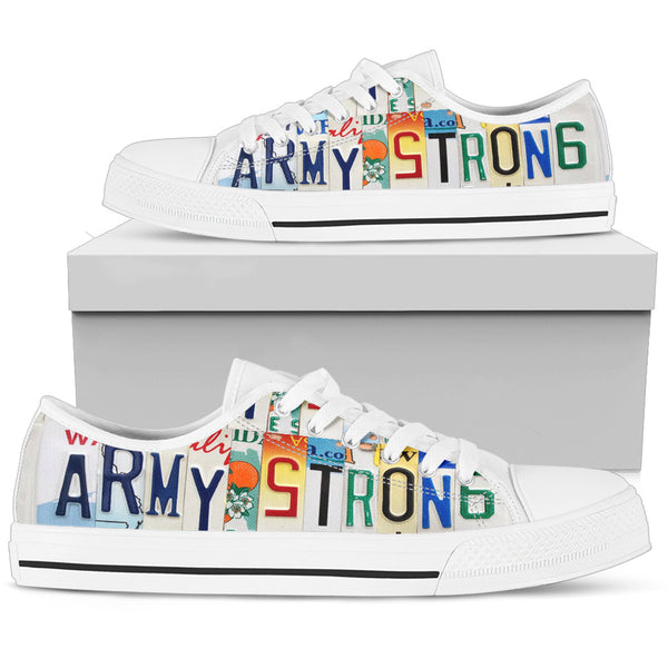 Army Strong | Women's Low Top Shoes - Monarch Graphics & Design