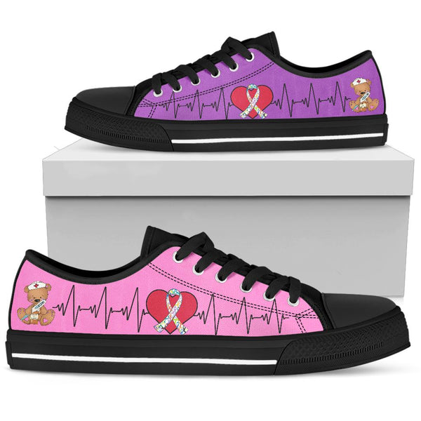 Nurse-All Ribbons | Low Top Shoes - Monarch Graphics & Design