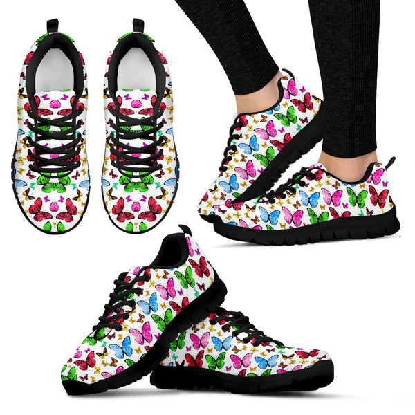 Colorful Butterflies | Women's Sneakers - Monarch Graphics & Design