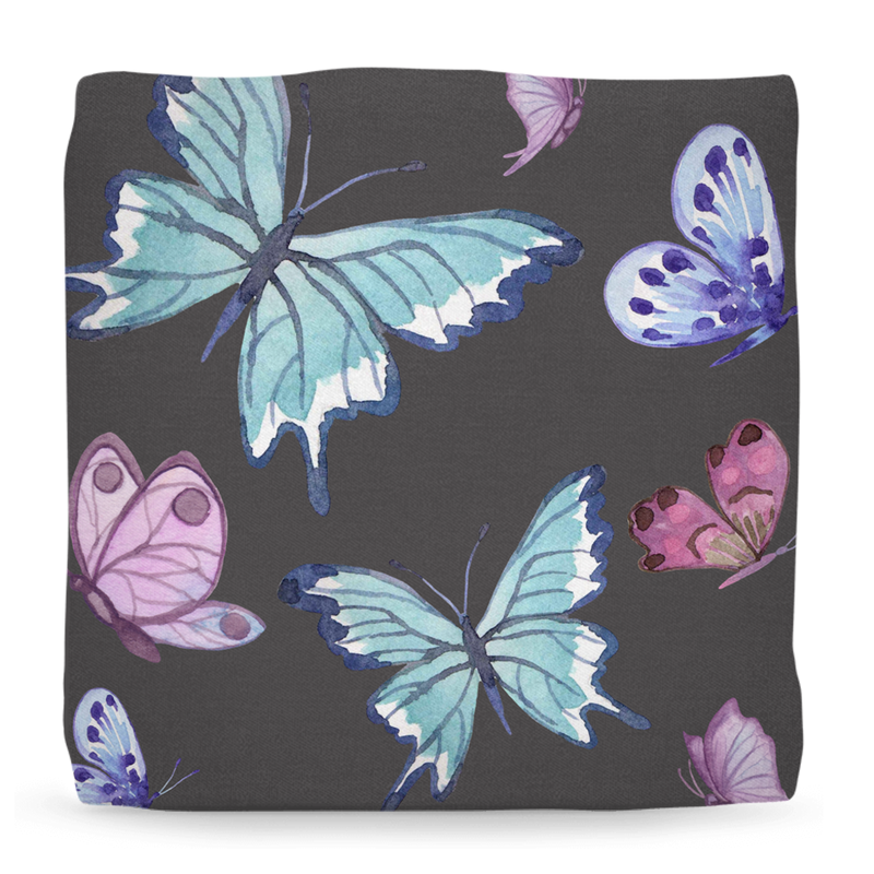 Butterfly Ottoman - Monarch Graphics & Design