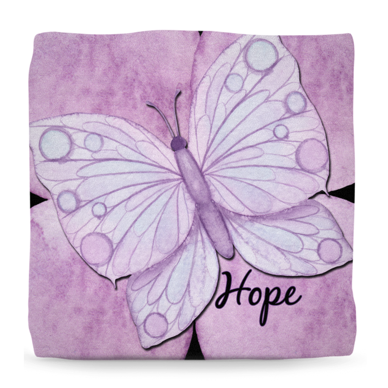 Purple Butterfly - Ottoman - Monarch Graphics & Design