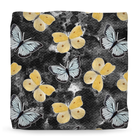 Butterfly Black & Yellow Ottoman - Monarch Graphics & Design