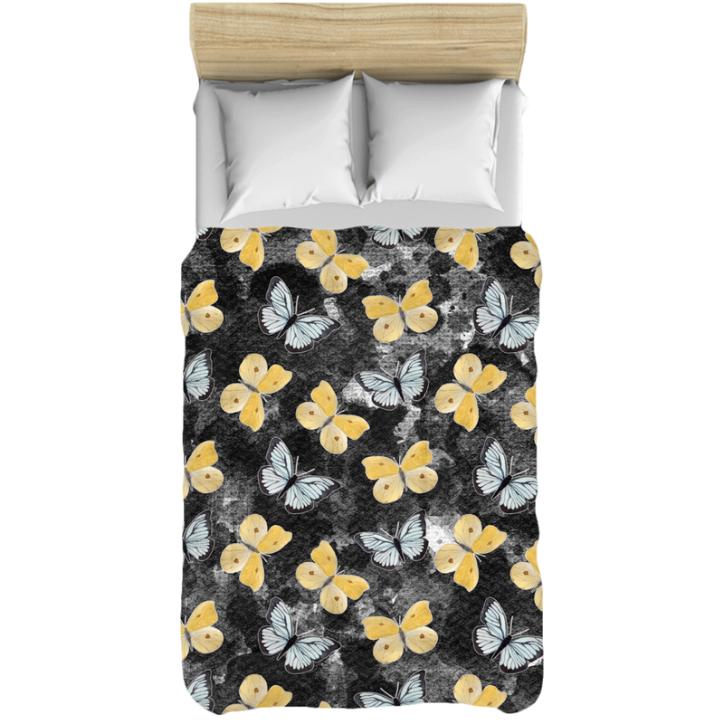 Butterfly Black & Yellow Comforter - Monarch Graphics & Design