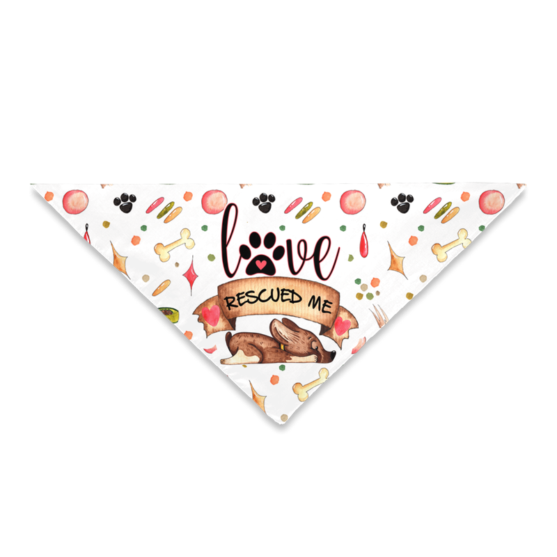 Love Rescued Me - Pet Bandana - Monarch Graphics & Design