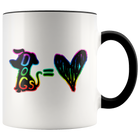 Dogs = Love - Mug - Monarch Graphics & Design