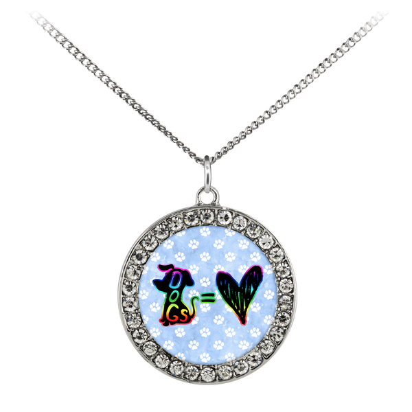 Dogs = Love - Necklace - Monarch Graphics & Design