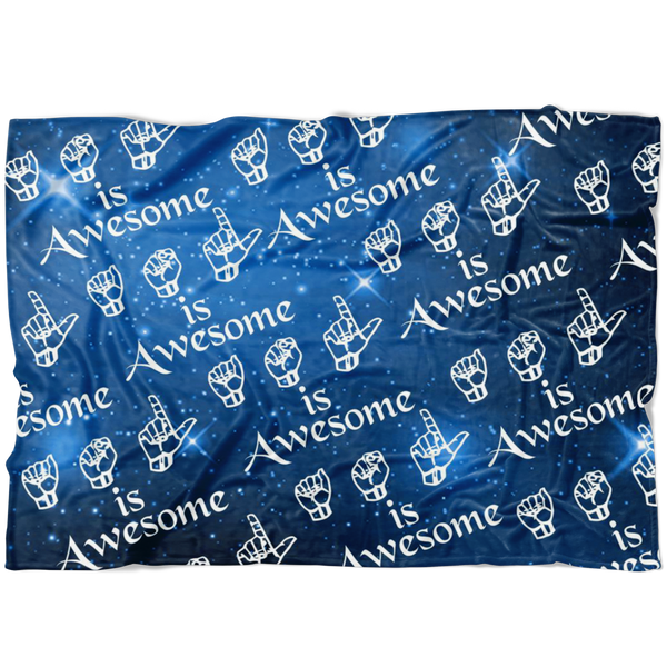 ASL is Awesome - Blanket - Monarch Graphics & Design