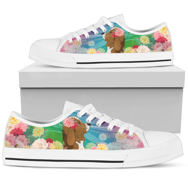 Basset Hound | Women's Low Top Shoe - Monarch Graphics & Design