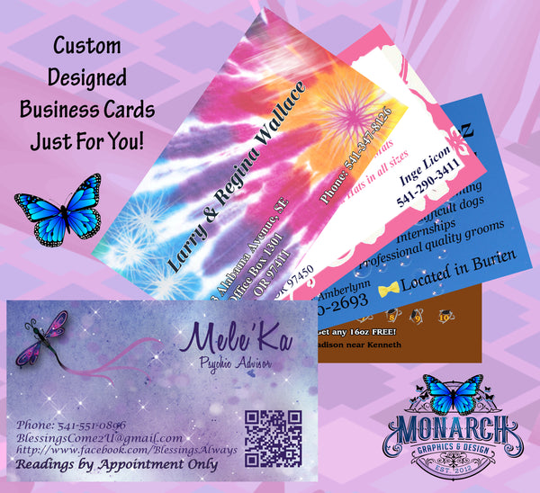 Business Cards - Monarch Graphics & Design