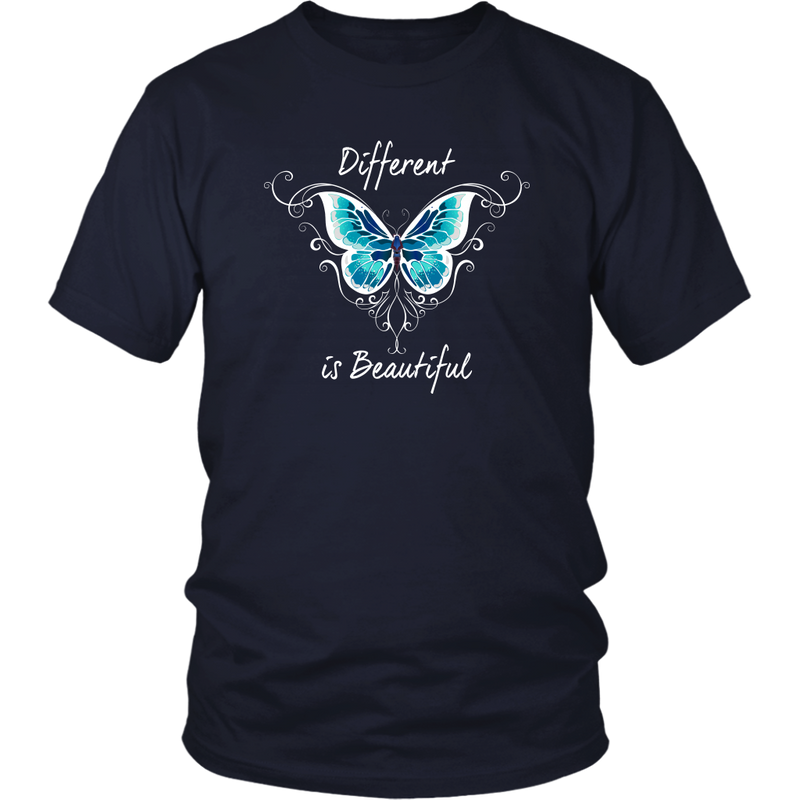 Different is Beautiful - White Text - Monarch Graphics & Design