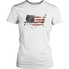 USA Flag Map - Matching Family Shirts - Monarch Graphics & Design