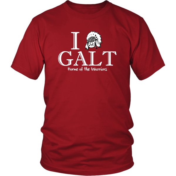 I Love Galt - Home of the Warriors - Monarch Graphics & Design