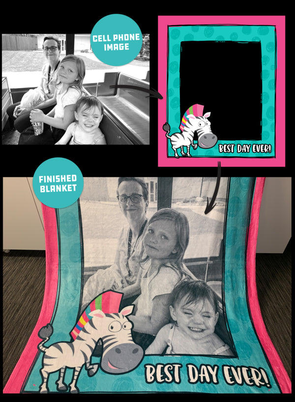 Personalized Photo Blanket - Monarch Graphics & Design