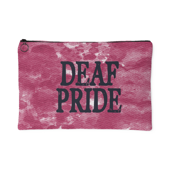Deaf Pride - Accessory Pouch - Monarch Graphics & Design