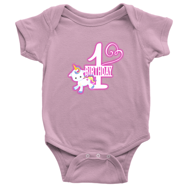 1st Birthday - Pink Unicorn - Monarch Graphics & Design