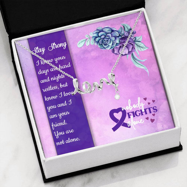 Stay Strong | Love Necklace - Monarch Graphics & Design