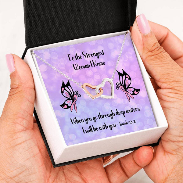 Breast Cancer Survivor | Two Heart Necklace - Monarch Graphics & Design