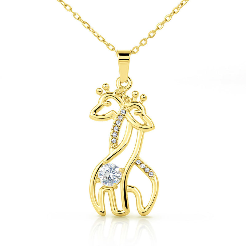 For My Daughter | Mother's Day Giraffe Necklace - Monarch Graphics & Design