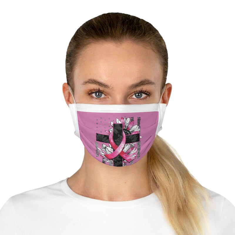Breast Cancer, US Flag, Sunflowers | Cotton Face Mask