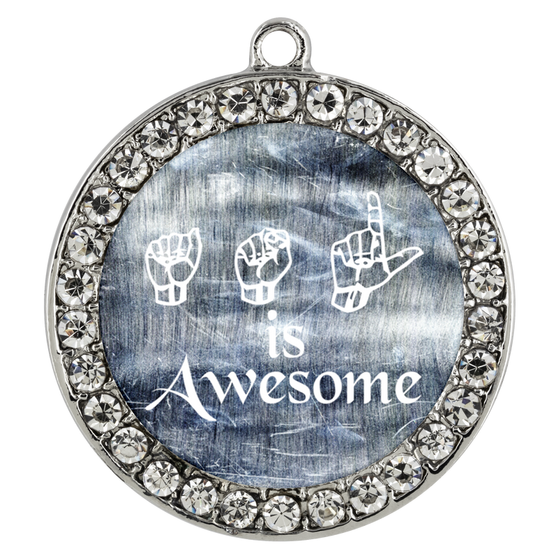 ASL is Awesome - Necklace - Monarch Graphics & Design