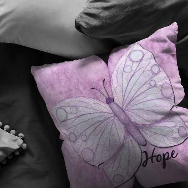 Purple Butterfly -  Pillow - Monarch Graphics & Design