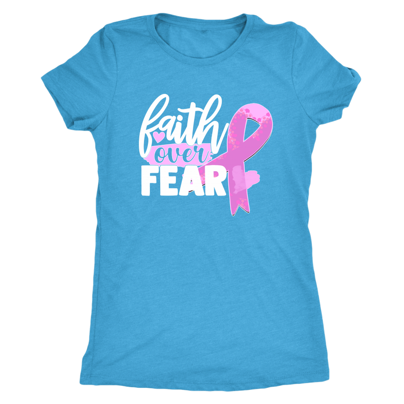 Faith Over Fear - Cancer Ribbon - Monarch Graphics & Design