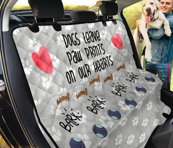 Dogs Leave Paw Prints | Car Seat Protector - Monarch Graphics & Design