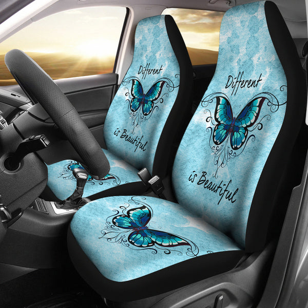 Different Is Beautiful | Car Seat Covers - Monarch Graphics & Design