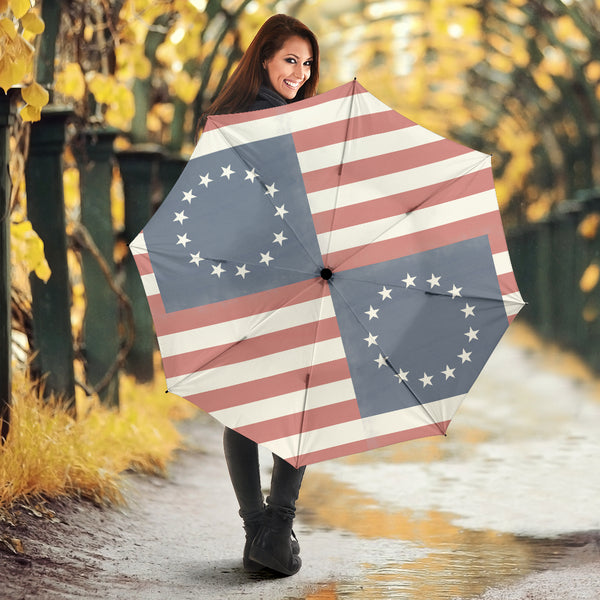 Betsy Ross Flag Umbrella - Monarch Graphics & Design