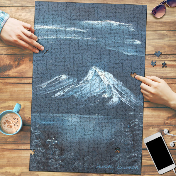 Mountains at Night | Puzzle - Monarch Graphics & Design
