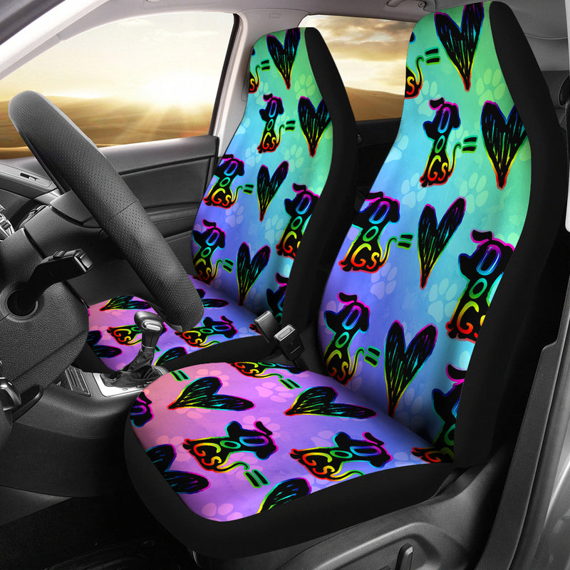 Dogs=Love Car Seat Cover - Monarch Graphics & Design