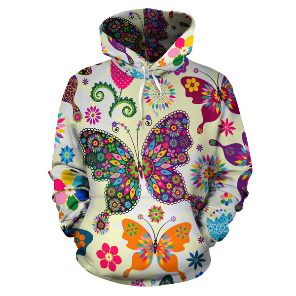 Butterfly Pattern Hoodie - Monarch Graphics & Design