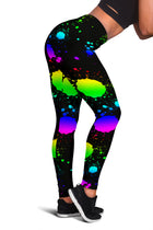 Paint Spatter - Black Leggings - Monarch Graphics & Design