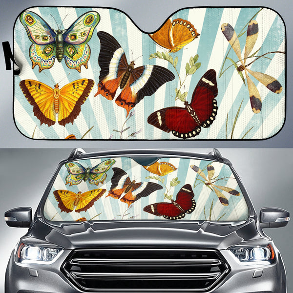 Butterfly Collage Auto Shade - Monarch Graphics & Design