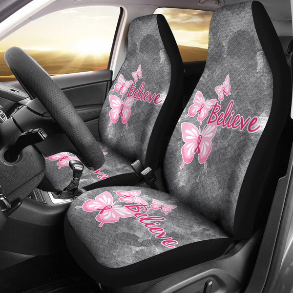 Believe - Butterfly Car Seat Cover - Monarch Graphics & Design