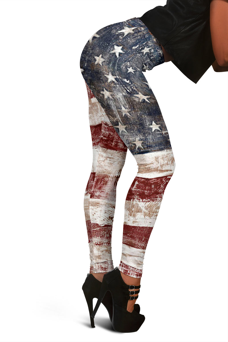 American Flag Leggings - Monarch Graphics & Design