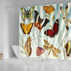 Butterfly Collage Shower Curtain - Monarch Graphics & Design