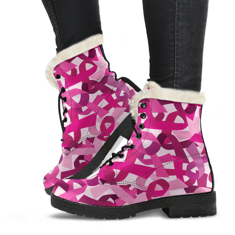 Breast Cancer Awareness Boots - Monarch Graphics & Design