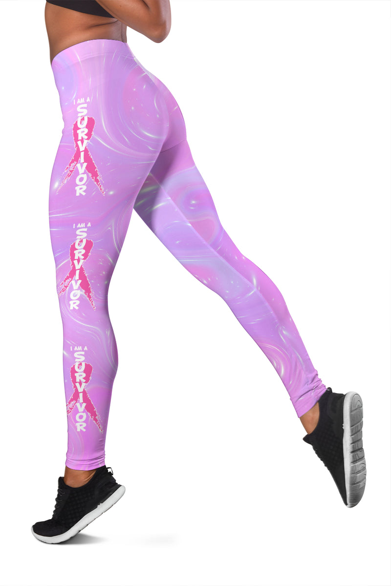 I Am A Survivor Leggings - Monarch Graphics & Design