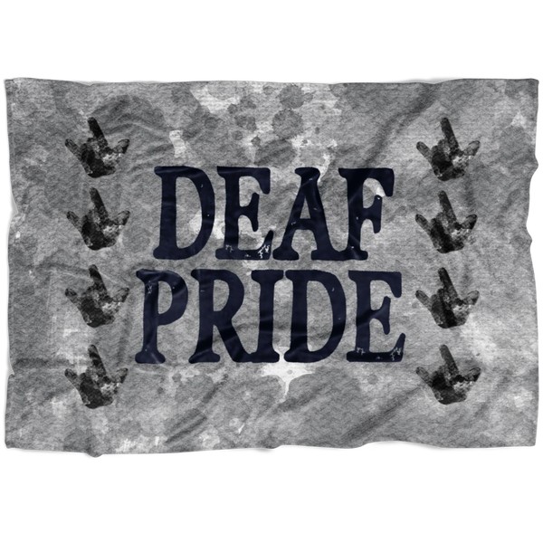 Deaf Pride - Fleece Blanket - Monarch Graphics & Design