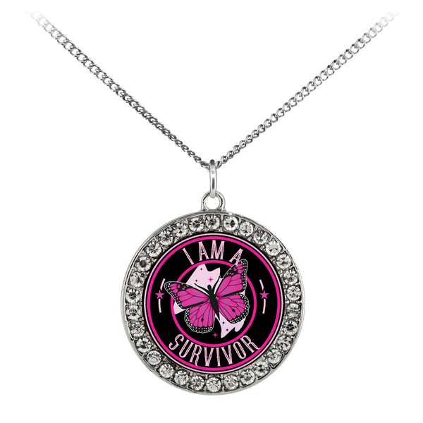 I Am A Survivor - Pink - Necklace - Monarch Graphics & Design