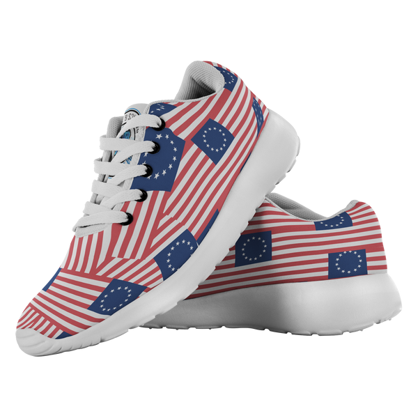 Betsy Ross Flag - Shoes - Monarch Graphics & Design