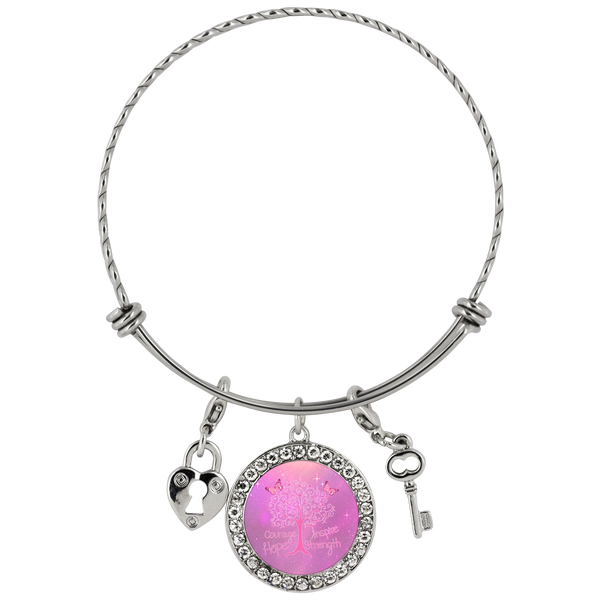 Cancer Living Tree - Bracelet - Monarch Graphics & Design